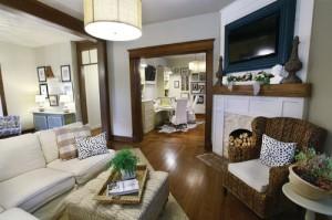 716 living/dining room/  Jill DiMartino/VintageKC Magazine