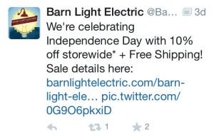 Barn Light Electric Tweet/Discount