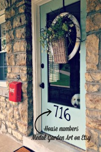 Front door house numbers