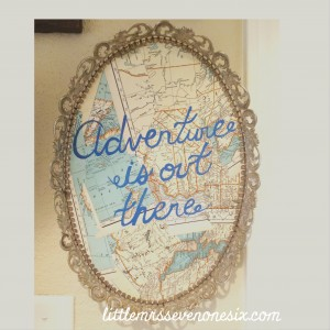 Adventure is out there wall art