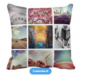 instagram customizeable pillow copy